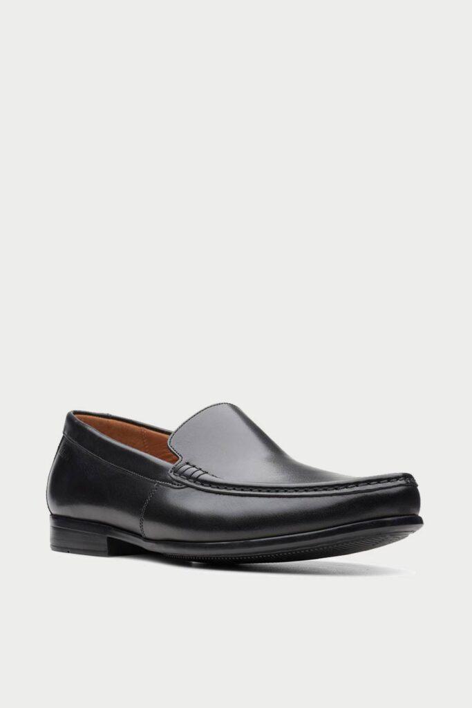 spiridoula metheniti shoes xalkida p claude plain black leather clarks 2