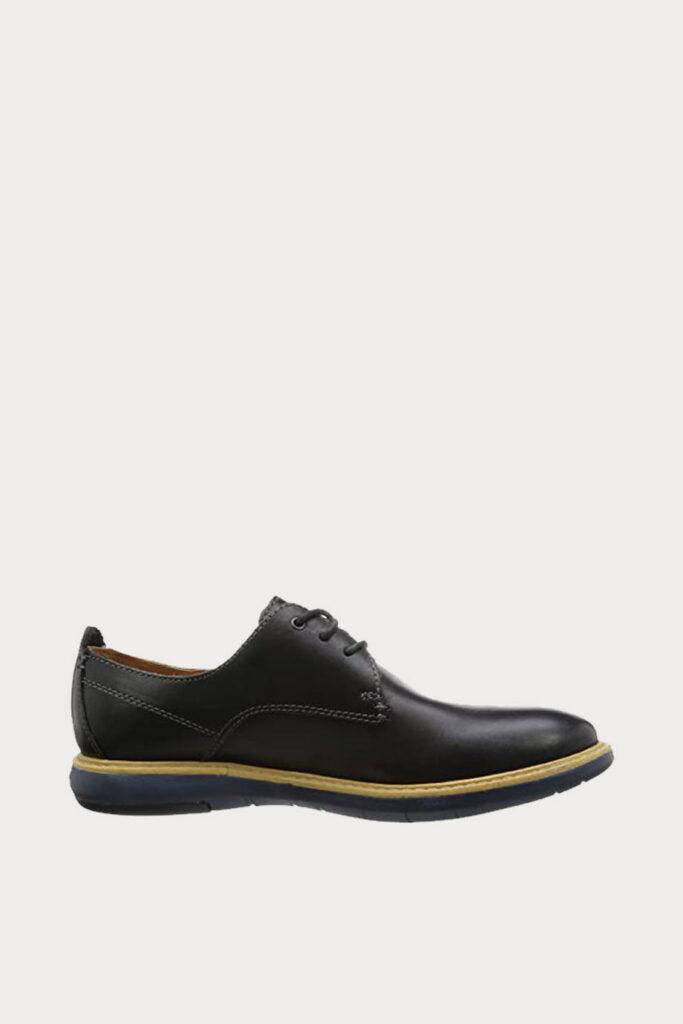 spiridoula metheniti shoes xalkida p flexton plain black leather clarks