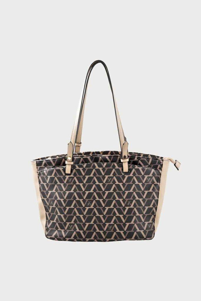spiridoula metheniti shoes xalkida p ss20 7710v eco leather bag black beige 19v69