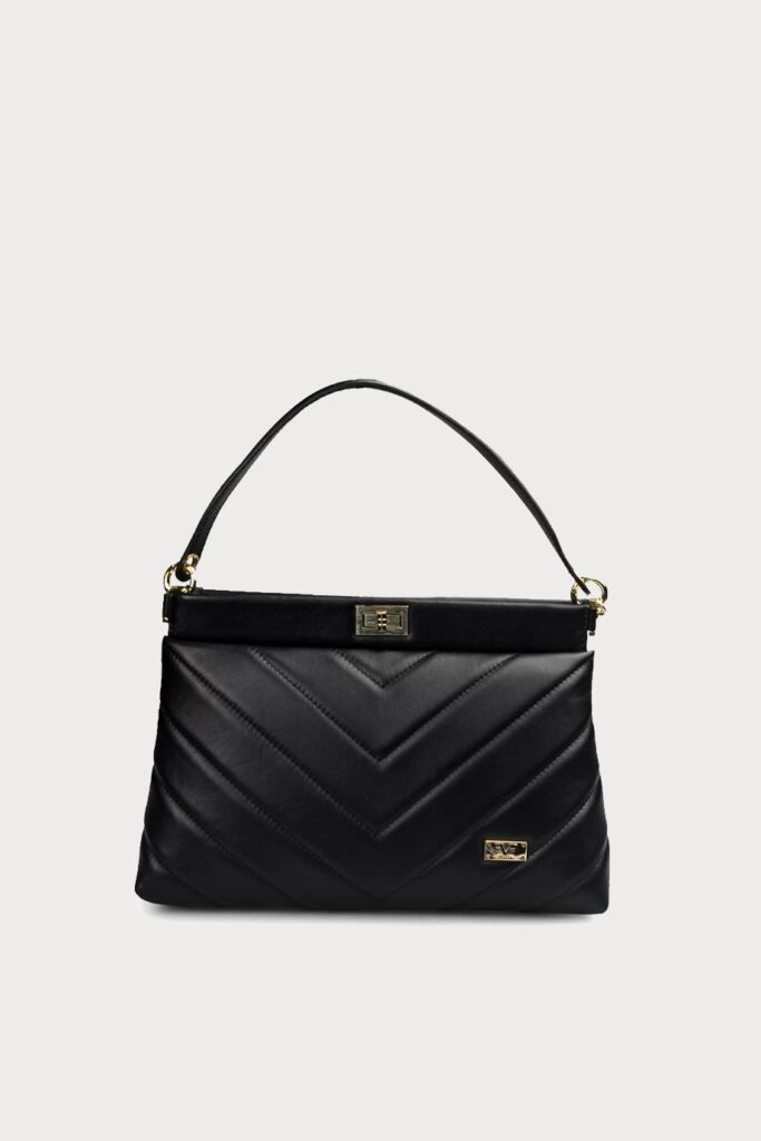 spiridoula metheniti shoes xalkida p ss20 7799 black leather handbag 19v69