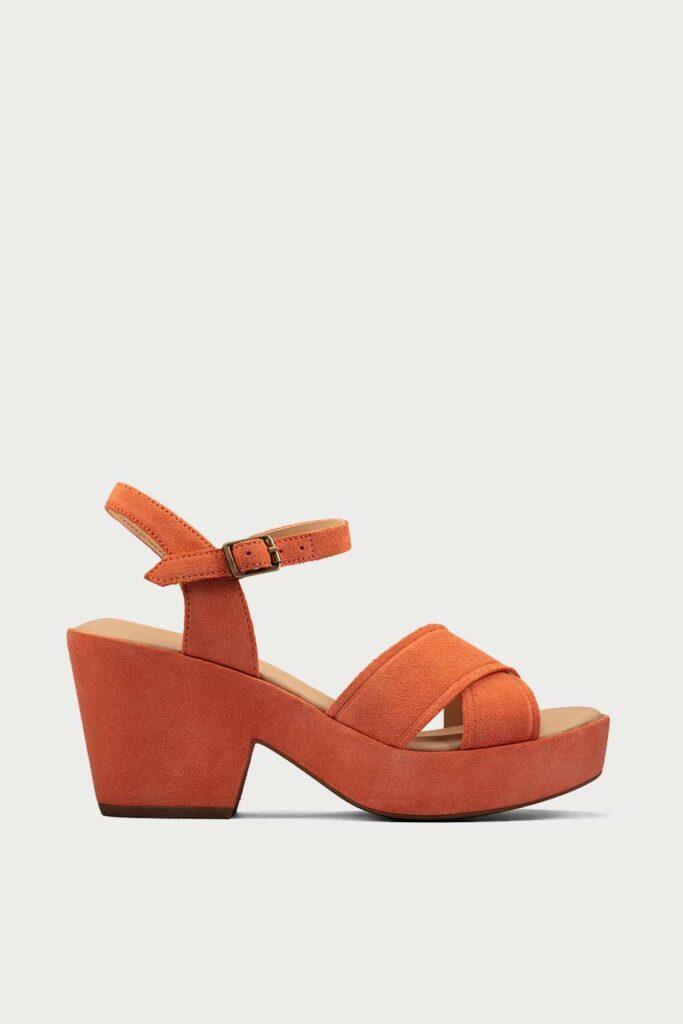 spiridoula metheniti shoes xalkida p maritsa 70 strap bright orange suede clarks