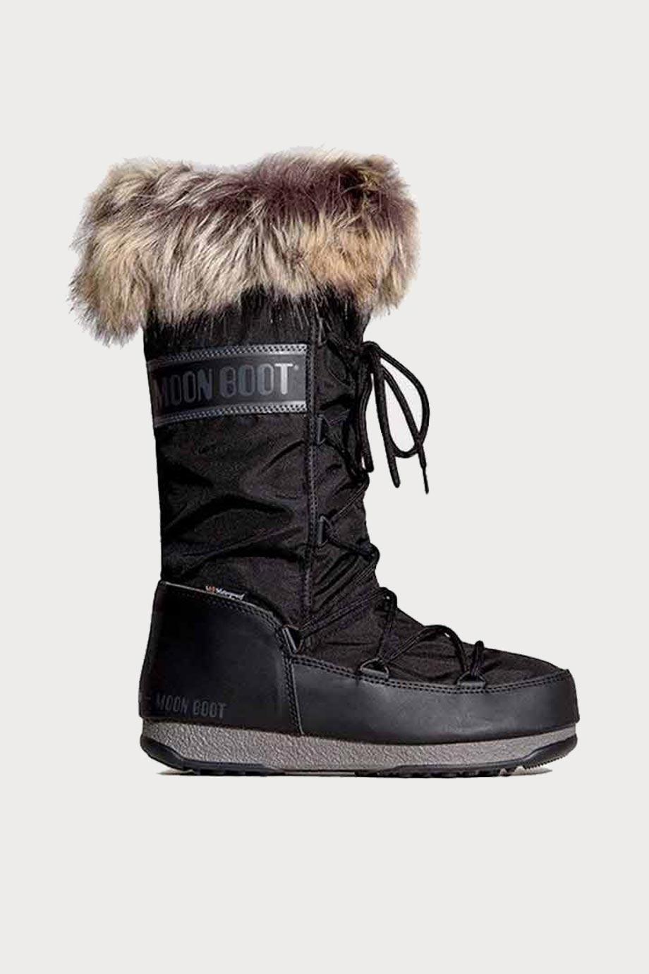 spiridoula metheniti shoes xalkida p 24008700 001 black high fur MoonBoot