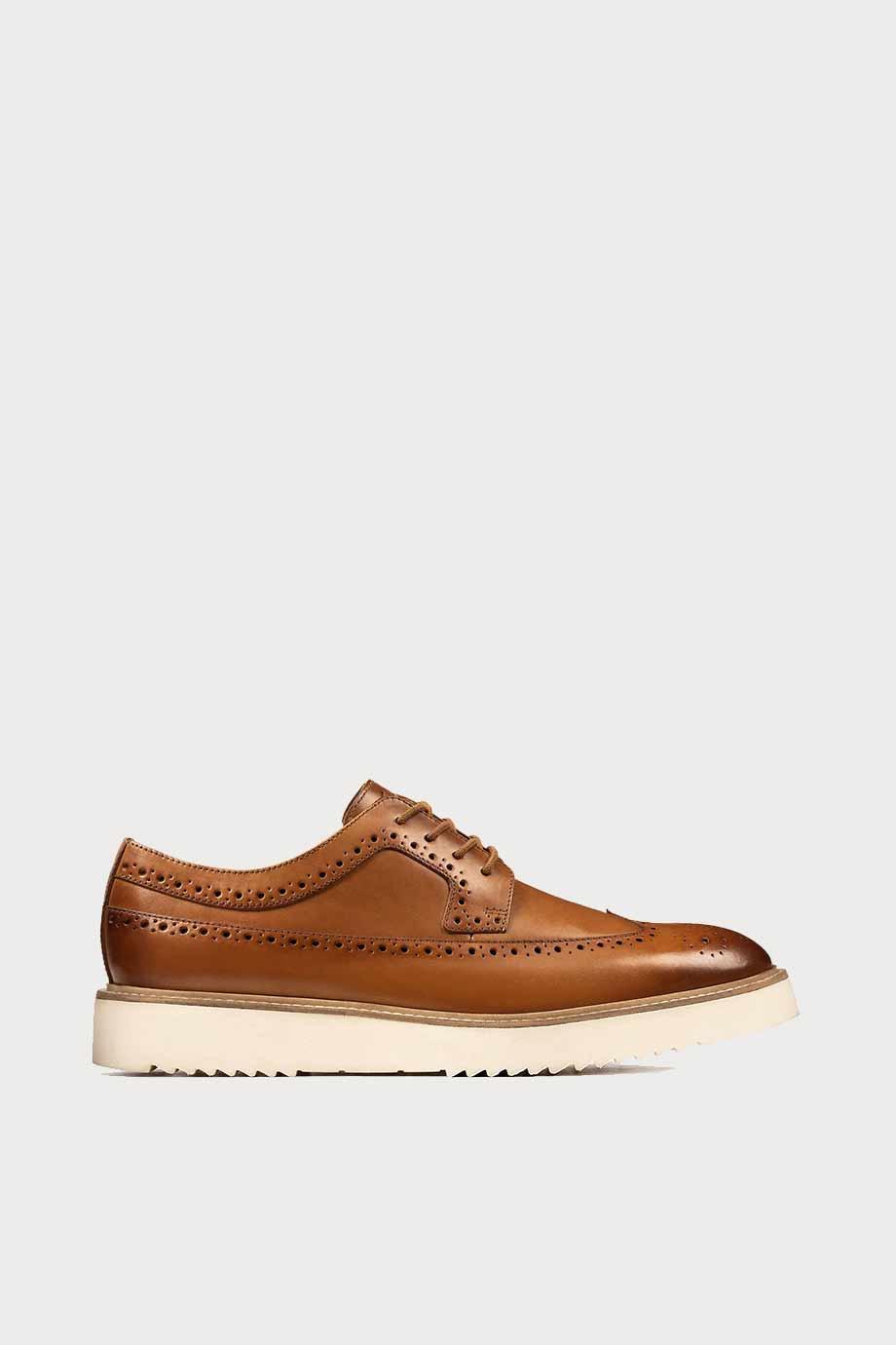 spiridoula metheniti shoes xalkida p Ernest Limit clarks tan leather 1