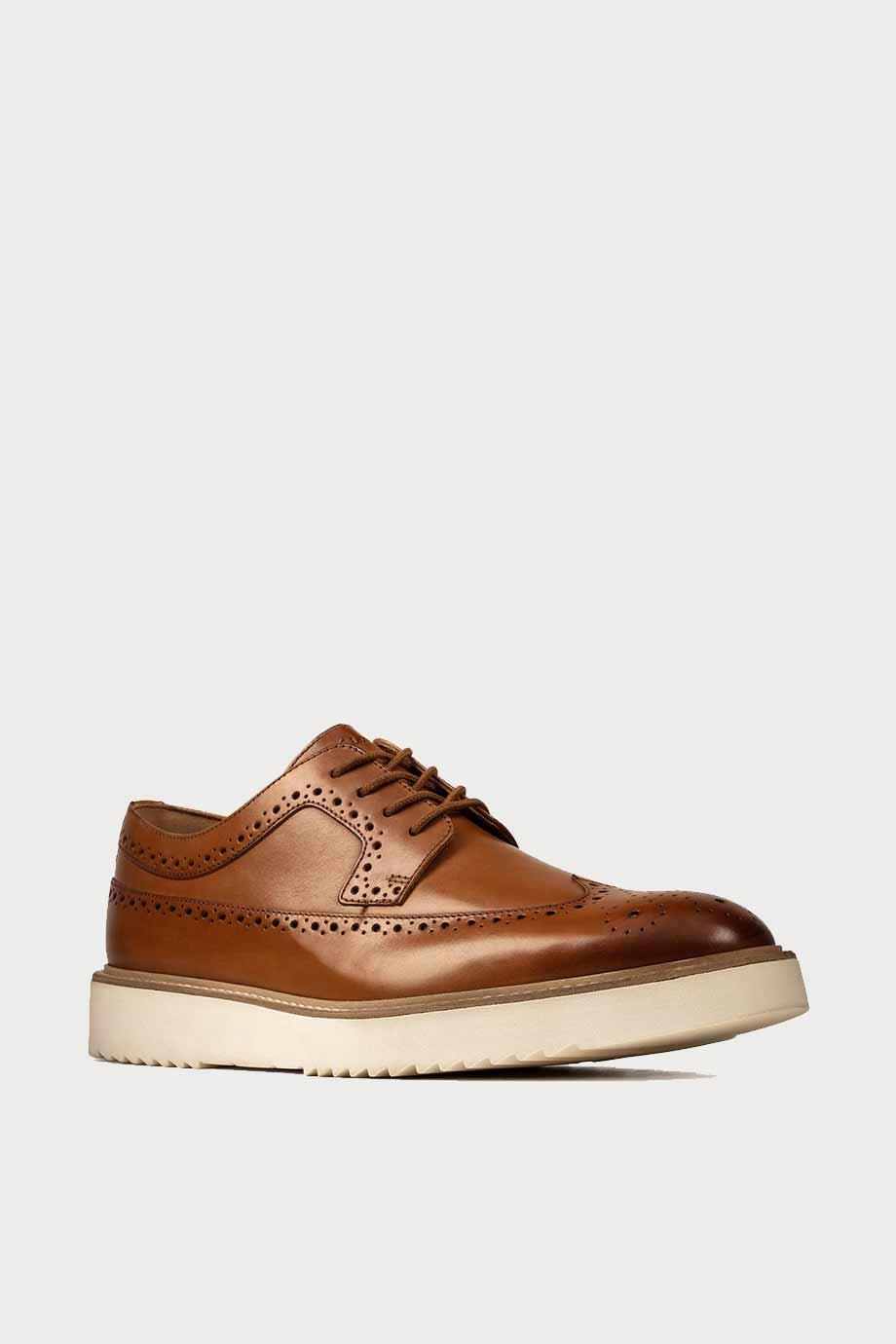 spiridoula metheniti shoes xalkida p Ernest Limit clarks tan leather 2