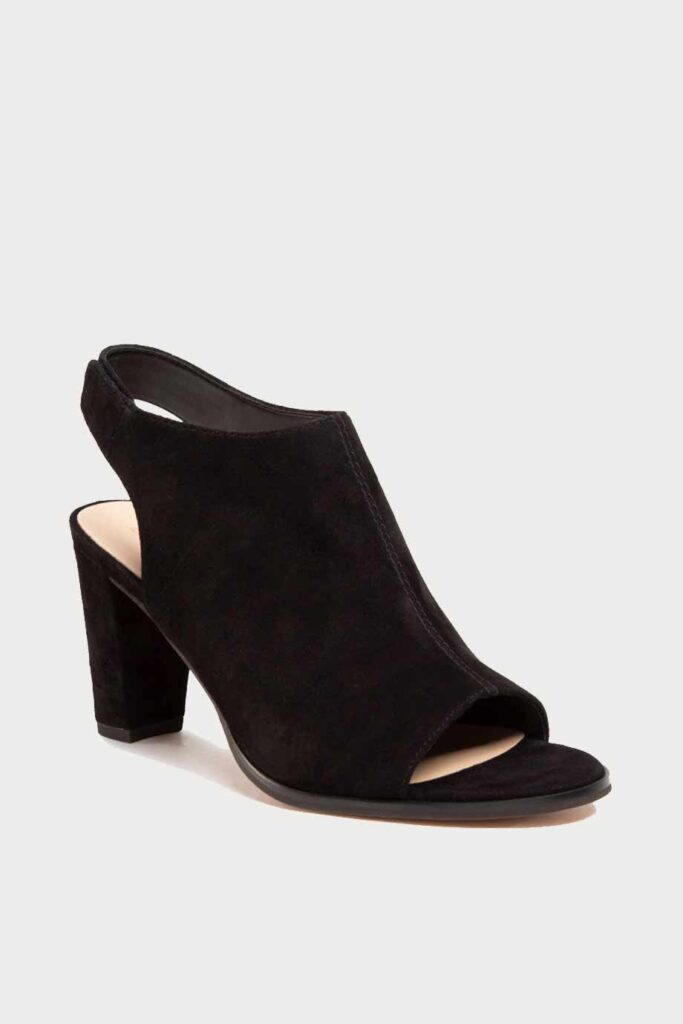 spiridoula metheniti shoes xalkida p Kaylin 85 Sling clarks black suede 1