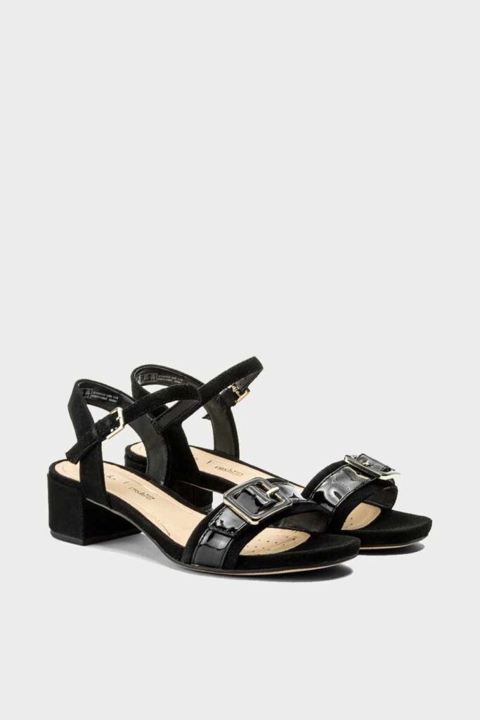 spiridoula metheniti shoes xalkida p Orabella Shine clarks black combi 2