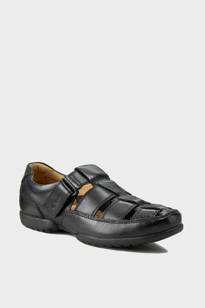 spiridoula metheniti shoes xalkida p Recline Open clarks black leather 1