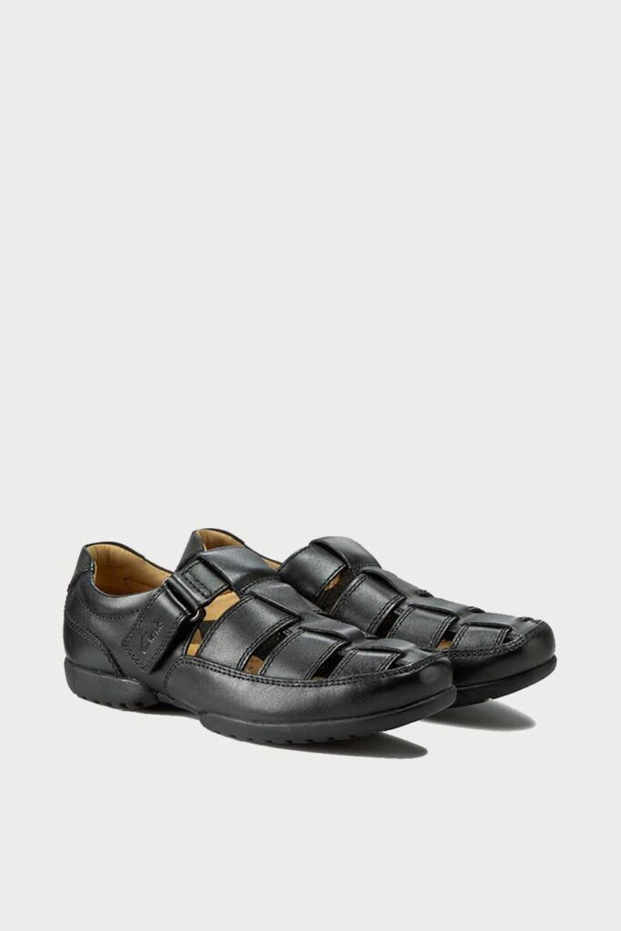 spiridoula metheniti shoes xalkida p Recline Open clarks black leather 2
