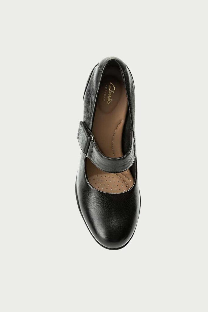 spiridoula metheniti shoes xalkida p Adya Clara Black Leather Clarks1